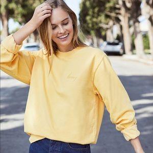Brandy Melville Honey Erica Crewneck Sweatshirt